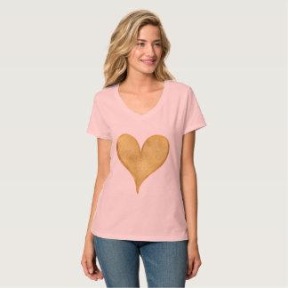 T-shirt Coeur étincelant d'or