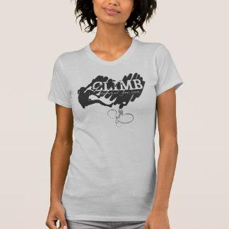 T-shirt Coeur femelle d'escalade de grimpeur de roche