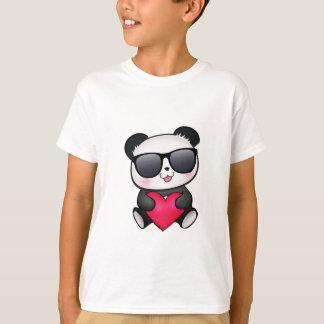 T-shirt Coeur frais de Saint-Valentin de lunettes de