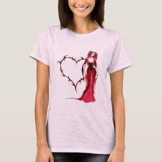 T-shirt Coeur gothique