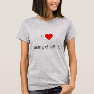 T-shirt Coeur I étant chemise de childfree