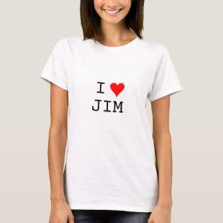 T-shirt coeur, I, JIM