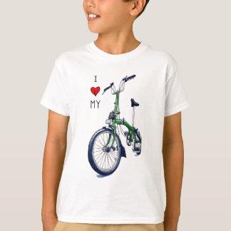 T-shirt Coeur I mon Brompton (vert)