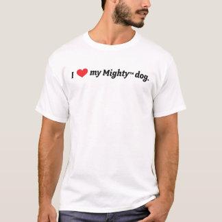 T-shirt Coeur I mon chien puissant