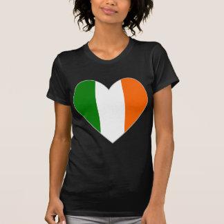 T-shirt Coeur irlandais Valentine de drapeau