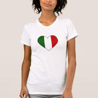 T-shirt Coeur italien Valentine de drapeau