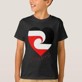 T-shirt Coeur maori de drapeau