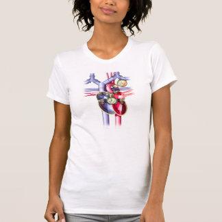 T-shirt Coeur mécanique punk de vapeur