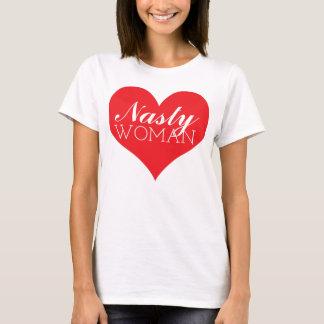 T-shirt Coeur méchant de femme - anti atout de Hillary