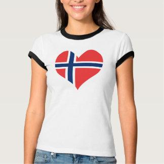 T-shirt Coeur norvégien de drapeau