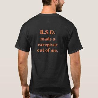 T-shirt Coeur peint par jet de travailleur social de RSD