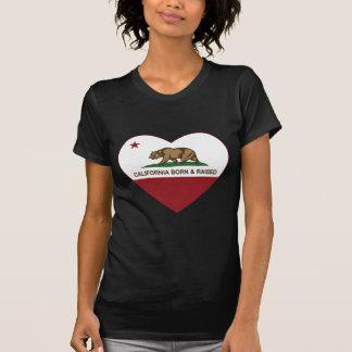 T-shirt Coeur soutenu et augmenté de la Californie