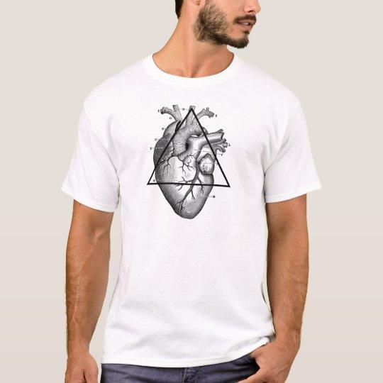 T-shirt Coeur triangle heart