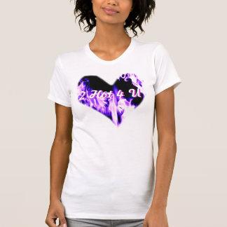 T-shirt Coeur une chemise chaude de la flamme 2 4 U