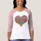 T-shirt Coeur vintage d'amour de paix