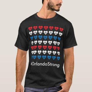 T-shirt Coeurs blancs de l'impulsion 49 forts d'Orlando et