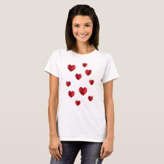 T-shirt Coeurs chaleureux de coeur