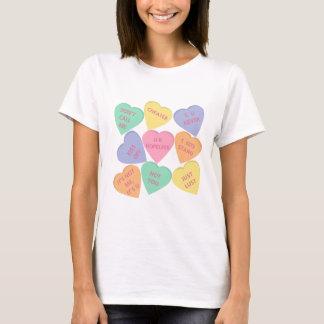 T-shirt Coeurs drôles de conversation de Saint-Valentin