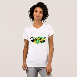 T-shirt - coeurs jamaïcains