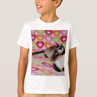 T-shirt Coeurs rêveurs de chat siamois