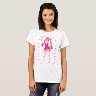 T-shirt Coeurs roses de Valentine d'Anime