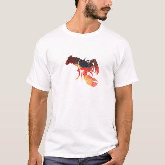 T-shirt Collage de médias mélangés de homard