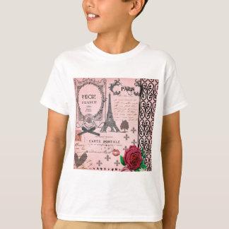 T-shirt Collage rose vintage de Paris