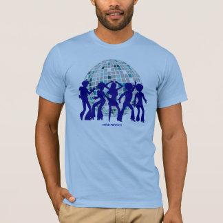 T-shirt Collection de pièce en t de disco : Boule de bleu