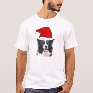 T-shirt Colley étourdi Tee~Christmas de Dogz~Border