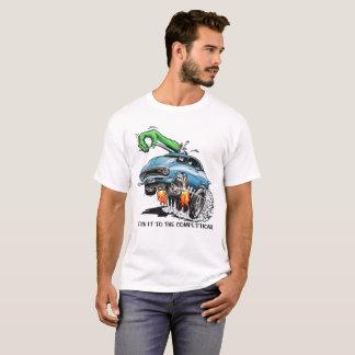 T-shirt Collez-le à la concurrence ! Hot rod bleu