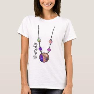 T-shirt Collier enorme 13 multicolores   de perle