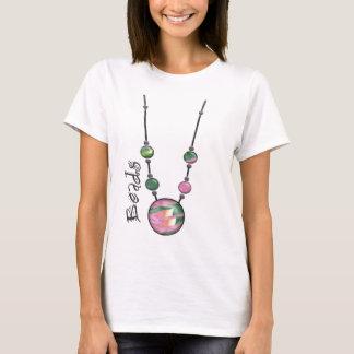 T-shirt Collier enorme 17 multicolores    de perle