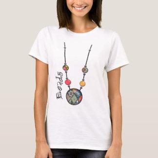 T-shirt Collier enorme 2 multicolores    de perle