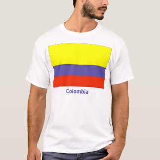 T-shirt colombien de drapeau