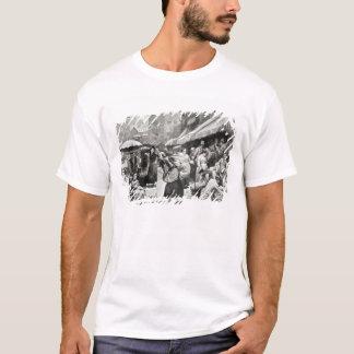 T-shirt Colonie italienne de courbure de mûre à New York