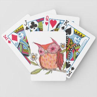 T-shirt coloré de hibou d'été jeu de cartes