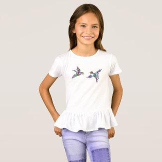 T-shirt coloré de nouveauté de silhouette
