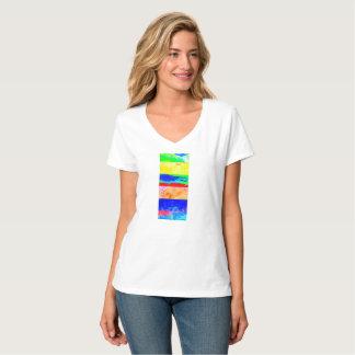T-shirt coloré d'été de pièce en t de peinture de