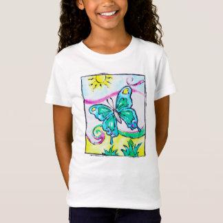 T-shirt coloré et lunatique de papillon