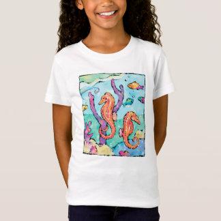 T-shirt coloré et lunatique d'hippocampe