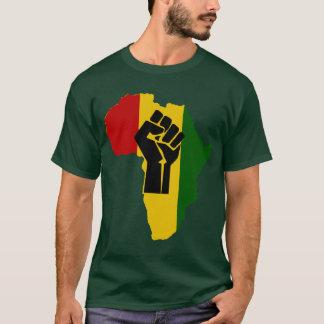 T-shirt coloré par obscurité noire de poing de