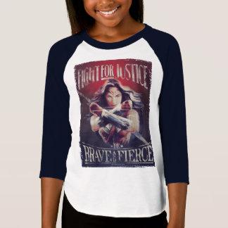 T-shirt Combat de femme de merveille pour la justice