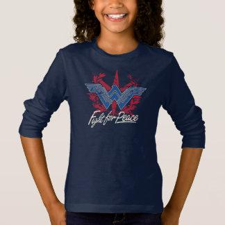 T-shirt Combat de femme de merveille pour le symbole de