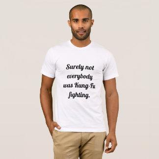 T-shirt combat de kung-fu