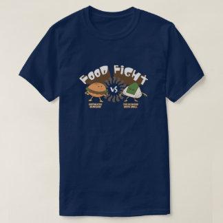 T-shirt Combat de nourriture ! Hamburger contre le