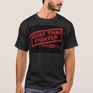 T-shirt Combattant thaïlandais de Muay (foncé)