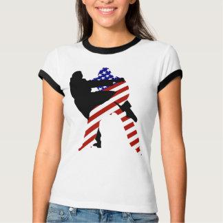 T-shirt Combattants cent pour cent américains de judo