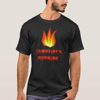 T-shirt Combustion de feux de camp