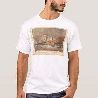 """T-shirt Combustion du bateau de tondeuse """"lumière d'or"""""""