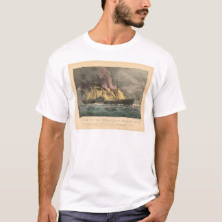 T-shirt Combustion du Golden Gate de paquebot (0144A)